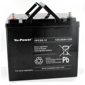 Batterie fauteuil roulant Yuasa YPC55-12