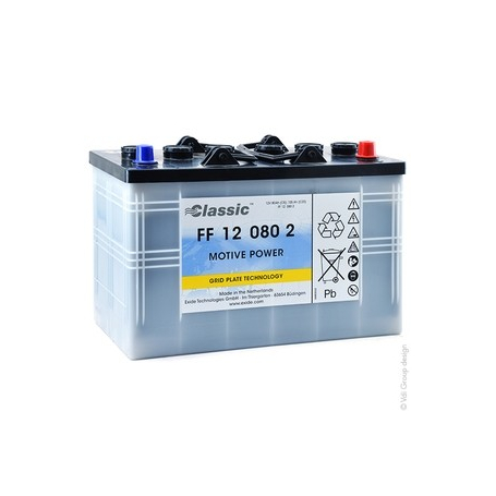 Batterie traction autolaveuse Sonnenschein FF120802 / 12V 100Ah