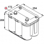 Batterie bateau Optima BTDC4.2 / 12V 55Ah