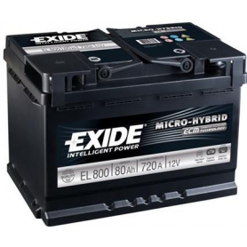 Batterie démarrage 'Stop&Start' Exide EL800 S&S