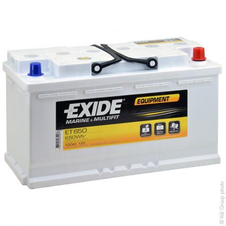 Batterie décharge lente camping car Exide ET650