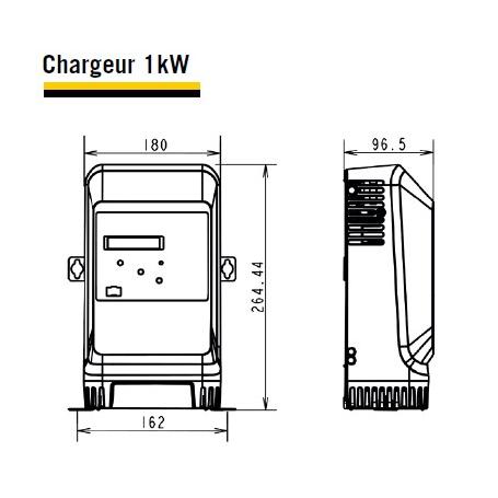 Chargeur 12V 1kW 27A LifeTech